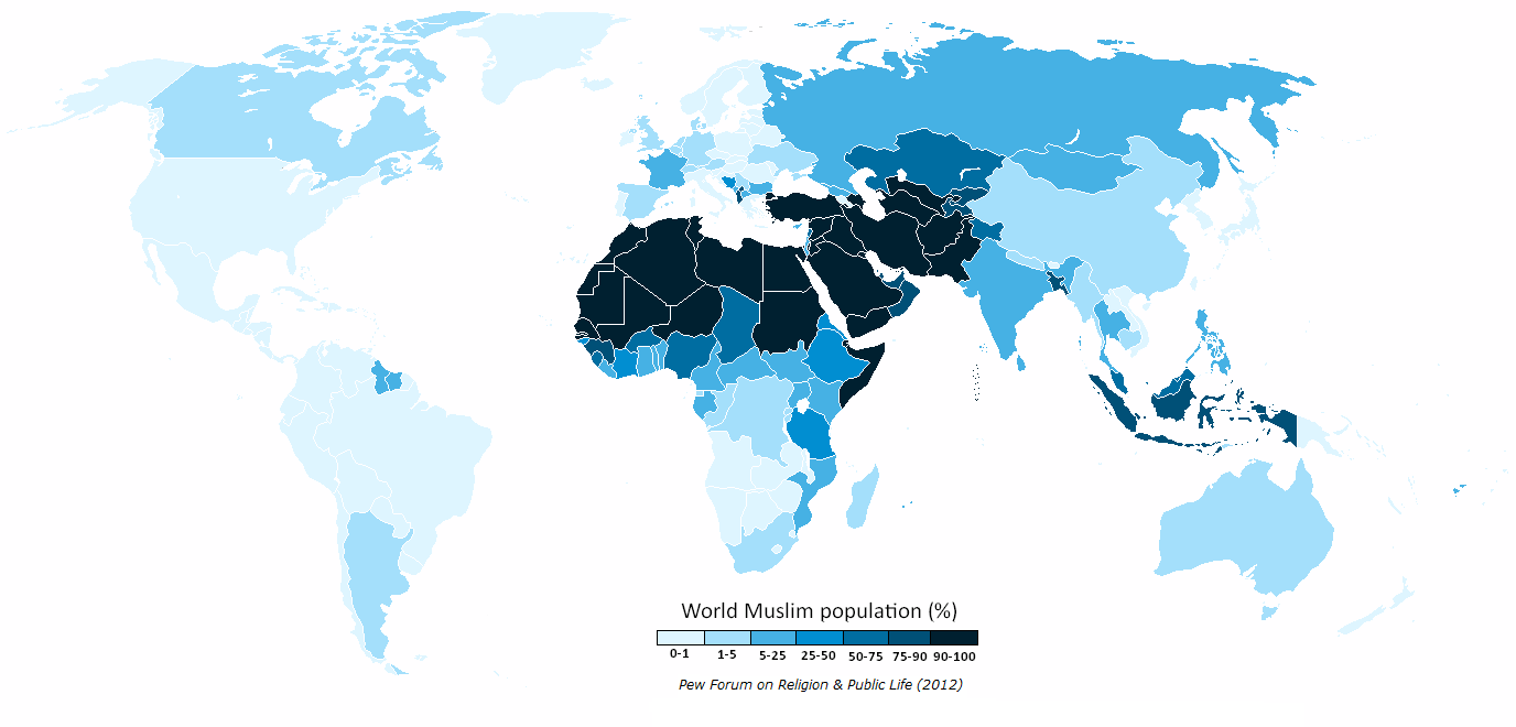 issues in distribtuiton estate of muslims in A majority of muslims will still live in asia and the pacific region, as they do now (even though islam is the predominant religion of the middle east, only one in five muslims live there.